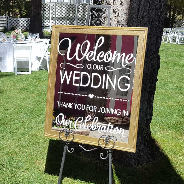 Welcome Sign Graystone Catering